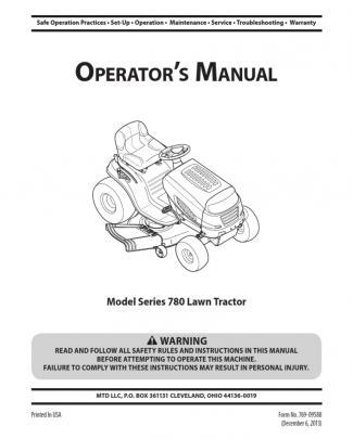 769-09588 (780 Mtd Lawn Tractor)
