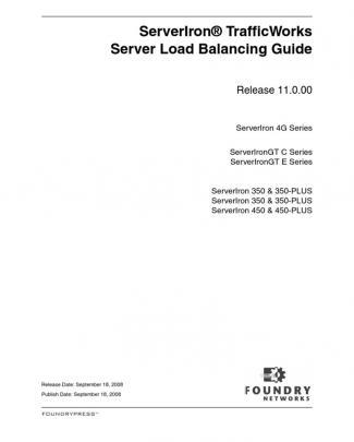 Serveriron 11000 Slbguide Load Balancer