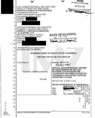 Michael Jackson Estate Legal Docs