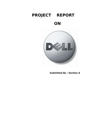Project+report+on+dell+laptop