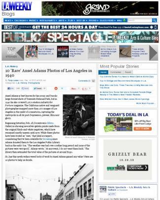 Ansel Adams In Los Angeles