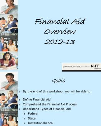 Financial Aid 2012-2013