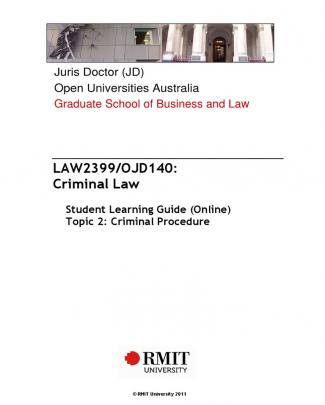 Criminal Procedures - Notes