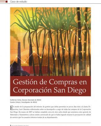 Gestion De Compras En Corporacion San Diego