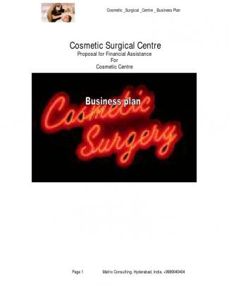 Cosmotic Surgical Center Business Plan