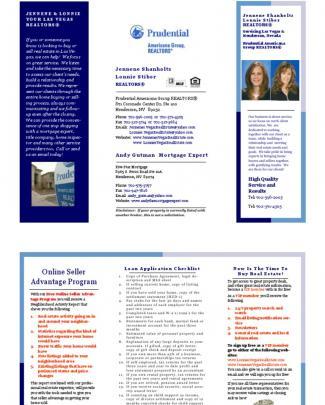 Las Vegas Real Estate Brochure 2010