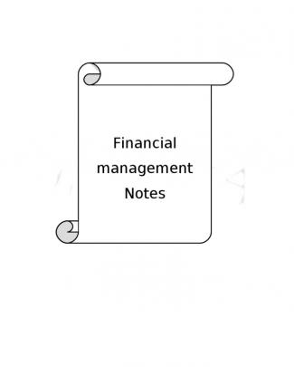 Financial Management Notes