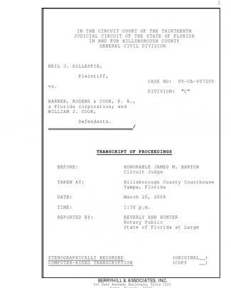 Transcript Judge Barton 1.30 Pm Mar 20 2008