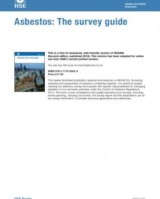 Asbestos Survey Guide Hse