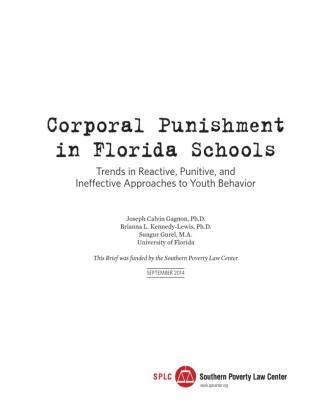 Corporal Punishment In Florida Report