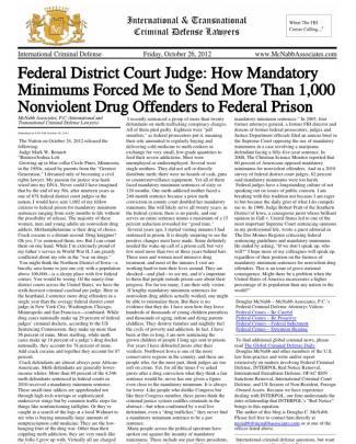 International Criminal Defense Lawyer Douglas Mcnabb Of Mcnabb Associates - News On Current International - Transnational Criminal Cases