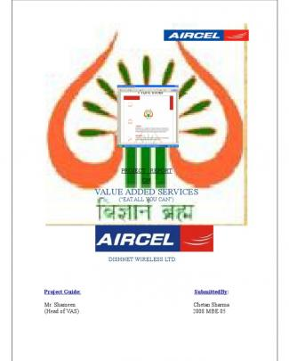 Aircel Final Project Report 2009