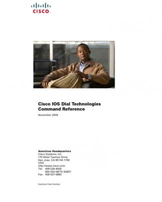 Cisco Ios Dial Technologies Command Reference