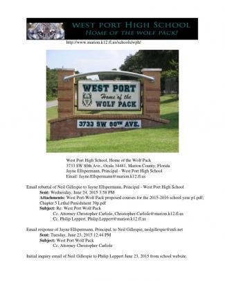 West Port High School Wolf Pack Ocala Marion Co Florida