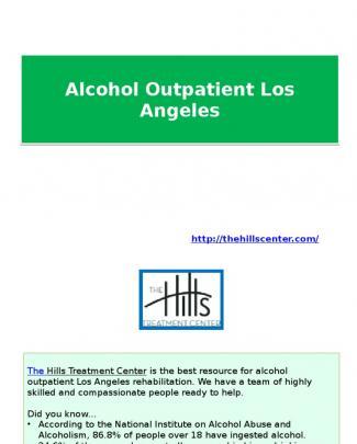 Alcohol Outpatient Los Angeles