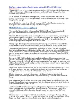 Http Aeg Live 2 Septembre 2012 Aeg Live Los Angeles Times