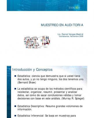 Presentaciones De Muestreo En Auditoria